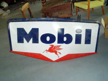 画像1: サインボード MOBIL エナメル 大