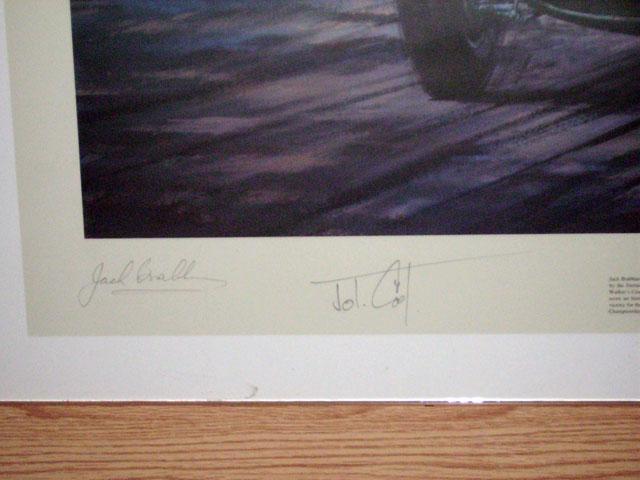 画像3: 額入り John Cooper(ジョン・クーパー)Jack Brabum(ジャック・ブラバム)サイン入り