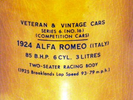 画像3: Wade社 Veteran Car シリーズ マグカップ Alfa Romeo