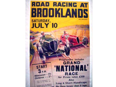 画像2: ポスター 額付き BROOKLANDS RACE