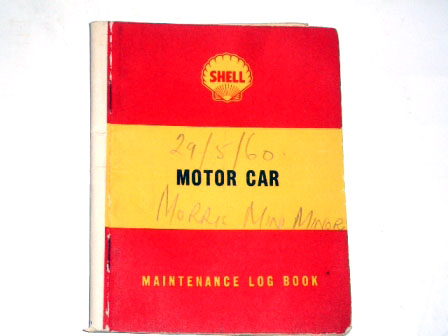 画像1: 小冊子 Shell Maintenance Log Book 1960May