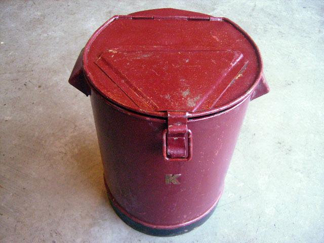 画像3: オイル缶 K ワインレッド
