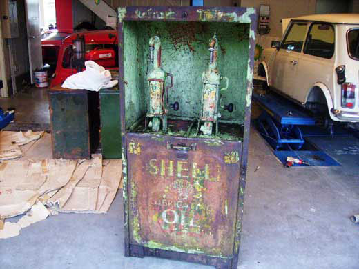 画像1: オイルタンク 2口 Shell シャッター付き