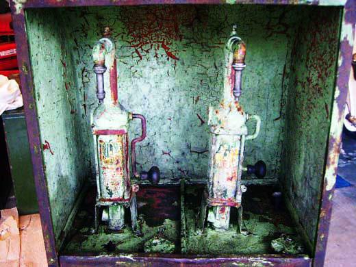 画像3: オイルタンク 2口 Shell シャッター付き