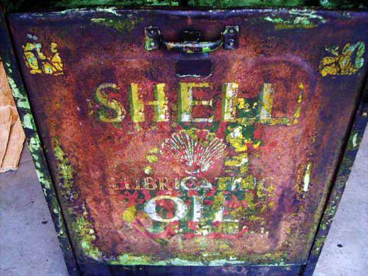 画像4: オイルタンク 2口 Shell シャッター付き