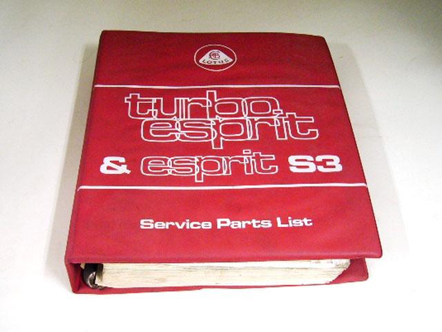 画像1: LOTUS TURBO ESPRIT&ESPRIT S3 SERVICE PARTS LIST