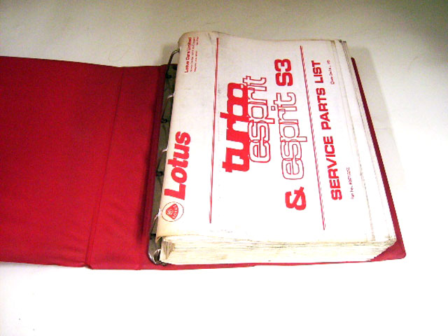 画像2: LOTUS TURBO ESPRIT&ESPRIT S3 SERVICE PARTS LIST