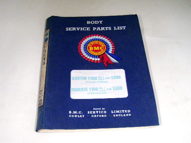 画像1: AUSTIN MORRIS 1100.1300(ADO16)BODY SERVICE PARTS LIST BMC